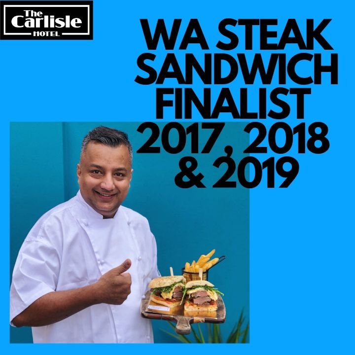 WA STEAK SANDWICH FINALIST 2017, 2018 & 2019